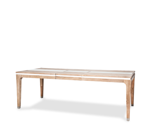 AICO - Michael Amini - Biscayne West 4 Leg Dining Table (Includes 1 x 20 Leaf)