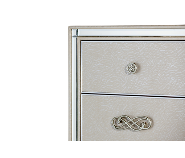 AICO - Michael Amini - Bel Air Park Upholstered 7-Drawer Chest
