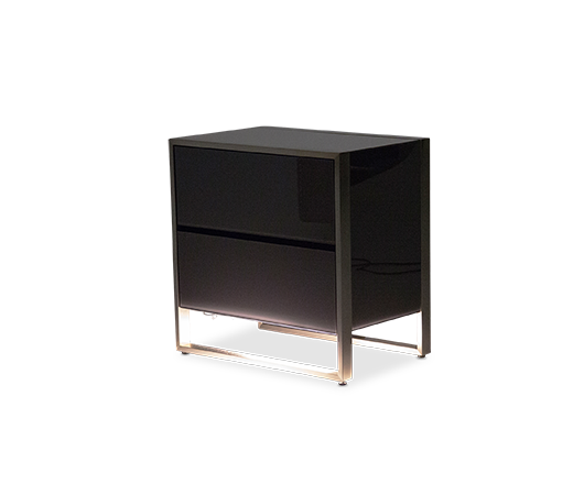 AICO - Michael Amini - Metro Lights Metal Nightstand