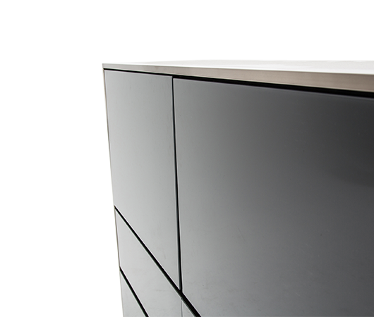 AICO - Michael Amini - Metro Lights Metal Storage Cabinet