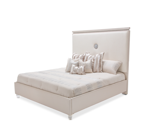 AICO - Michael Amini - Glimmering Heights Cal King Upholstered Bed (3 pc)