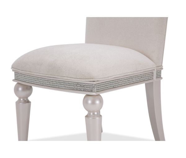 AICO - Michael Amini - Glimmering Heights Side Chair Ivory