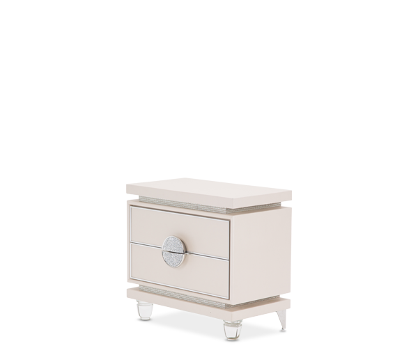 AICO - Michael Amini - Glimmering Heights Upholstered Nightstand Ivory