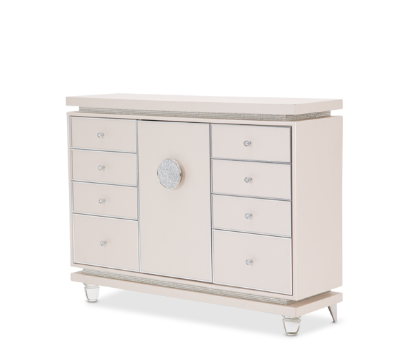 AICO - Michael Amini - Glimmering Heights Upholstered Dresser Ivory
