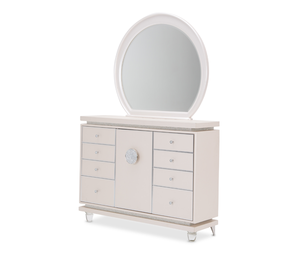 AICO - Michael Amini - Glimmering Heights Dresser w/Mirror Ivory