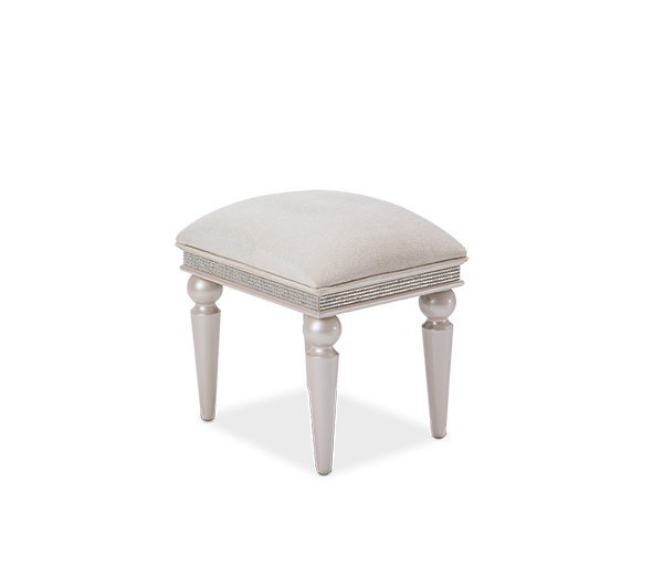 AICO - Michael Amini - Glimmering Heights Vanity Bench Ivory