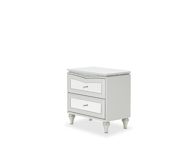 AICO - Michael Amini - Melrose Plaza Upholstered Nightstand Dove