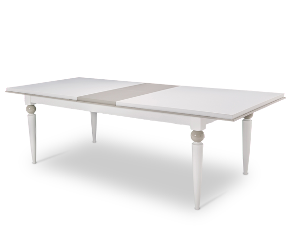 AICO - Michael Amini - Sky Tower Rectangular Dining Table (Includes 1 x 16 Leaf)