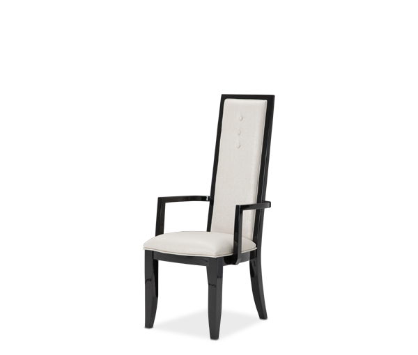 AICO - Michael Amini - Sky Tower Arm Chair Black Ice