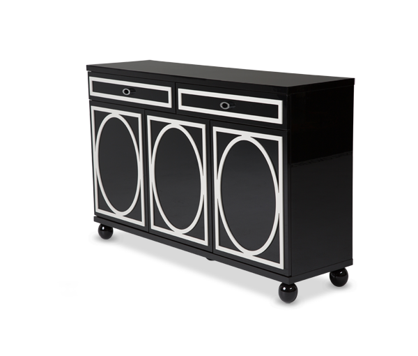 AICO - Michael Amini - Sky Tower Sideboard Black Ice