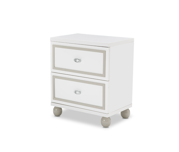 AICO - Michael Amini - Sky Tower Nightstand Cloud White