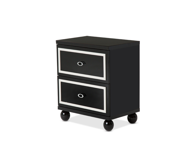 AICO - Michael Amini - Sky Tower Nightstand Black Ice