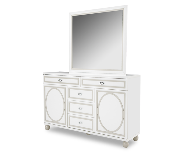 AICO - Michael Amini - Sky Tower Dresser & Mirror (2pc)