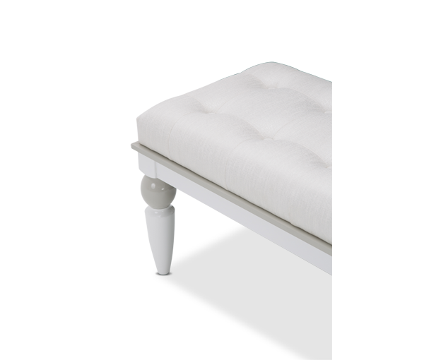 AICO - Michael Amini - Sky Tower Bedside Bench Cloud White