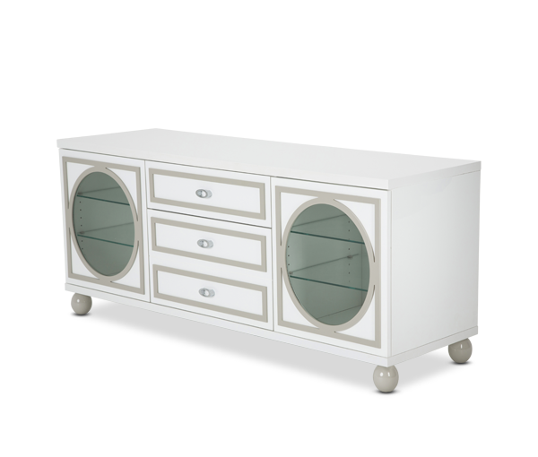 AICO - Michael Amini - Sky Tower TV Cabinet Cloud White