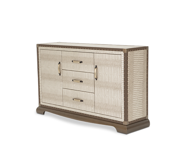 AICO - Michael Amini - Valise Sideboard Amazon Tan Gator