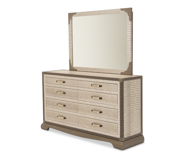 AICO - Michael Amini - Valise Dresser & Mirror (2pc)