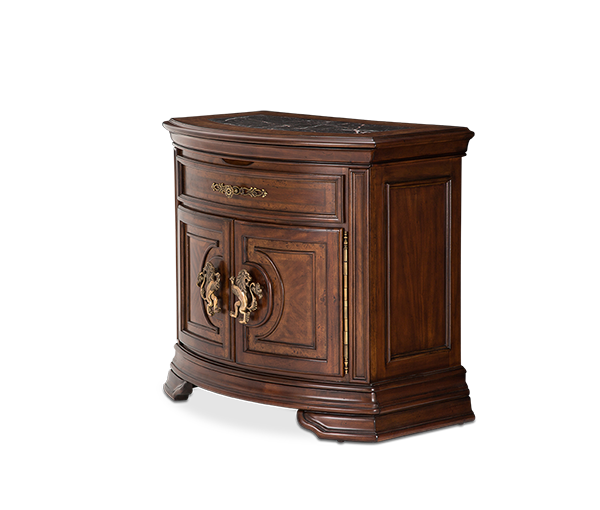 AICO - Michael Amini - Grand Masterpiece Nightstand Royal Sienna