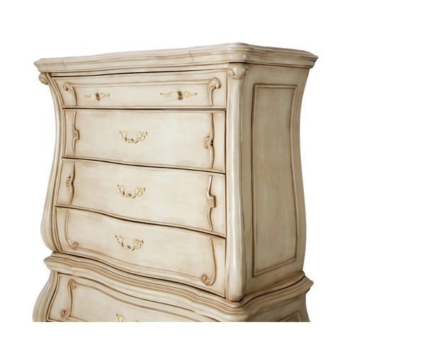 AICO - Michael Amini - Chateau de Lago 6 Drawer Chest (2 pc) Blanc