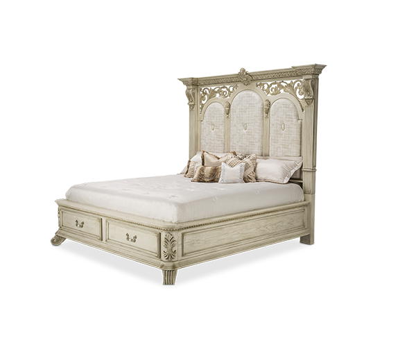 AICO - Michael Amini - Villa Di Como Eastern King Bed w/Drawers (4 pcs)