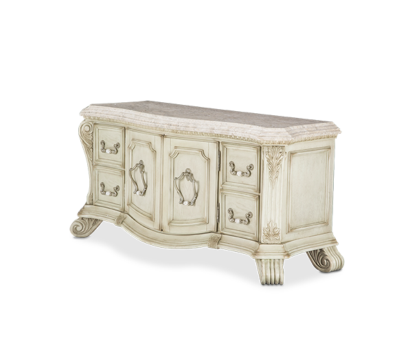 AICO - Michael Amini - Villa di Como Chest Base / TV Console Moonlight