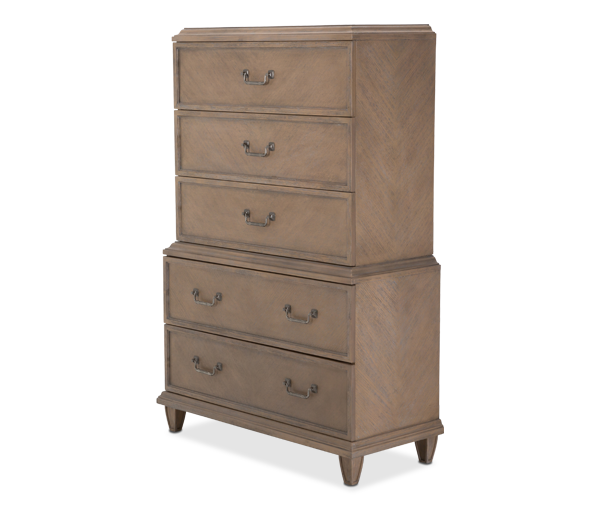 AICO - Michael Amini - Tangier Coast 5-Drawer Dresser (2 pc)