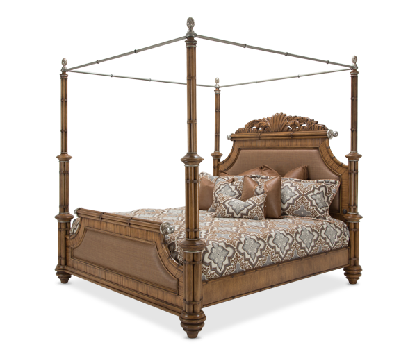 AICO - Michael Amini - Excursions Cal King Poster Bed w/Canopy (5 pc)