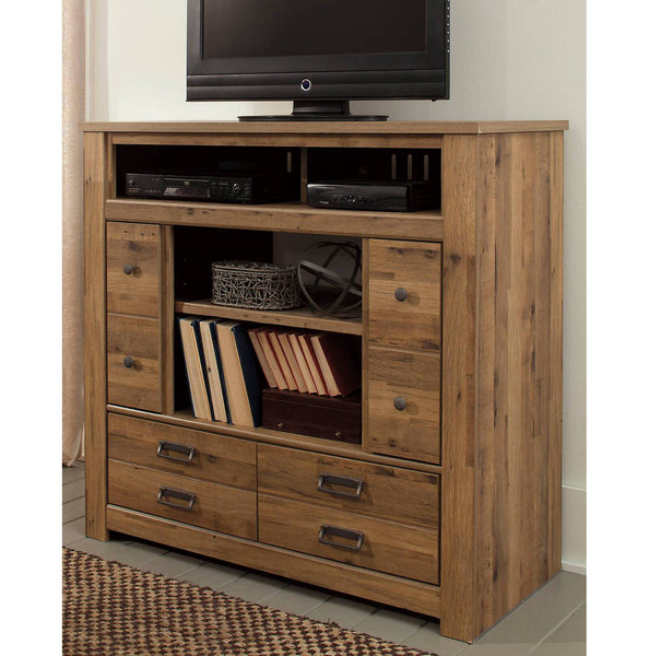 Ashley Signature - Dressers -  Cinrey Media Chest w/Fireplace Option- Kagans Home
