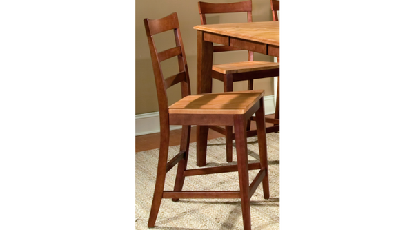 A-America - Bristol Point Honey Chestnut Ladder Back Counter Stool