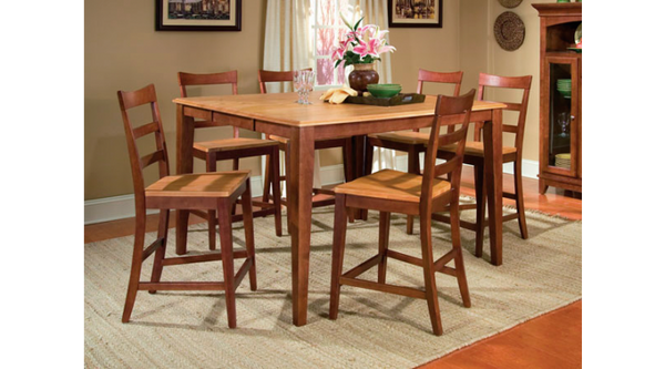 A-America - Bristol Point Honey Chestnut Grid Back Counter Stool