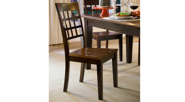 A-America - Bristol Point Oak Espresso Grid Back Chair