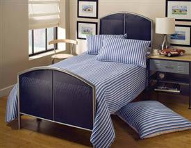 Hillsdale - Brayden Mesh Twin Bed Silver and Navy