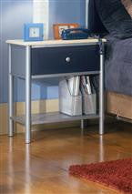 Hillsdale - Brayden Nightstand Silver and Navy