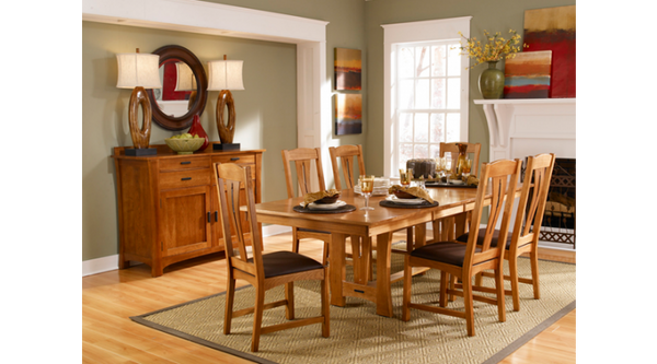 A-America - Cattail Bungalow AM Trestle Table