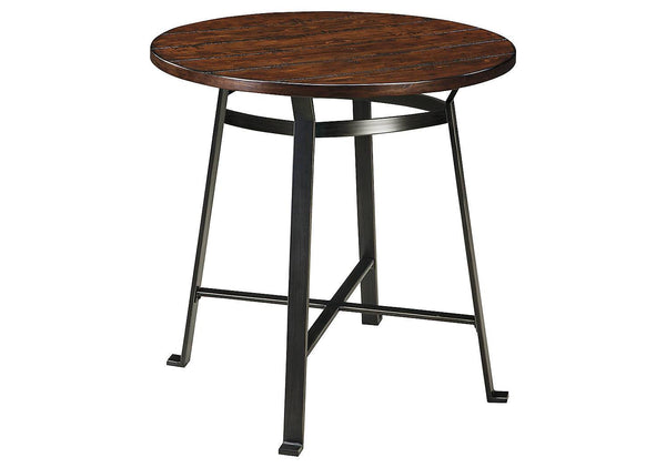 Ashley Signature - Dining Table -  Challiman Round Dining Room Bar Table- Kagans Home