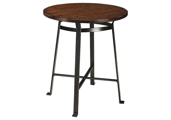Ashley Signature - Dining Table -  Challiman Round DRM Counter Table- Kagans Home