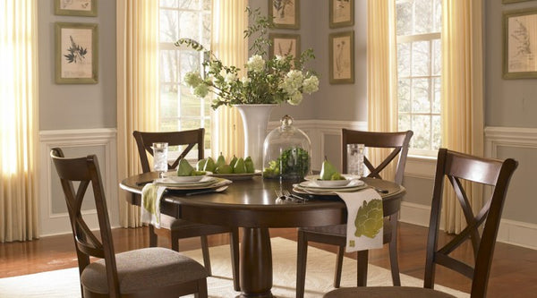 A-America - Desoto Oval Pedestal Table