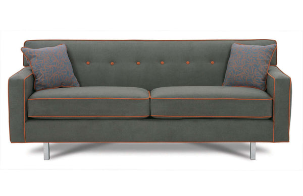 "ROWE - Dorset 80"" Chrome Sofa"