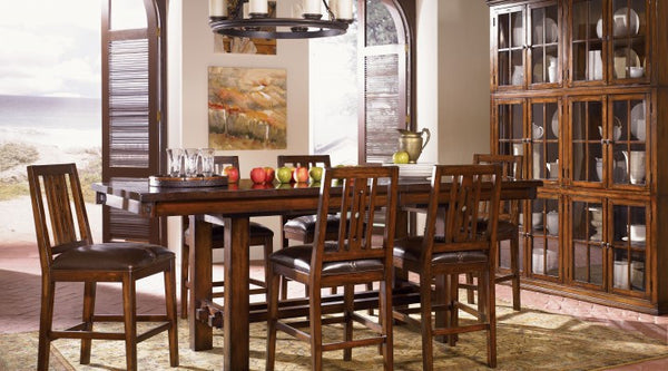 A-America - Mesa Rustica Trestle Gather Height Table
