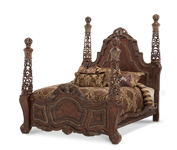 AICO - Michael Amini - Essex Manor Cal King Poster Bed