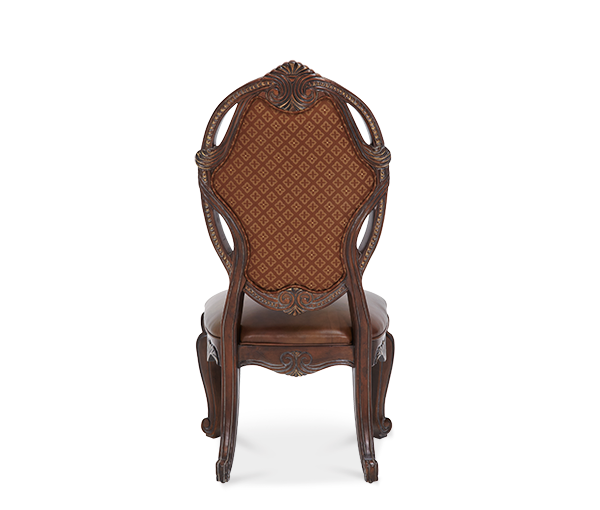 AICO - Michael Amini - Essex Manor Leather/Fabric Side Chair