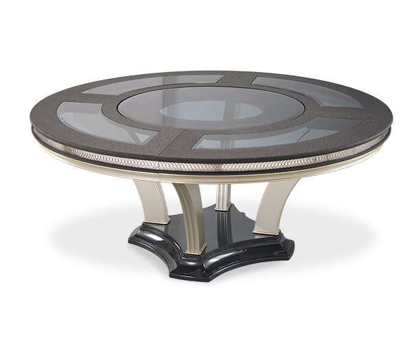 AICO - Michael Amini - Hollywood Swank Round Dining Table - Caviar (2 pc)
