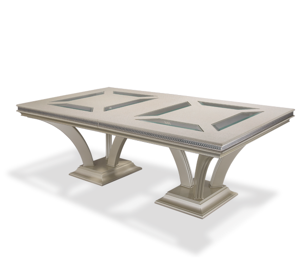 AICO - Michael Amini - Hollywood Swank Large Rectangular Dining Table - Pearl Caviar (2 pc)