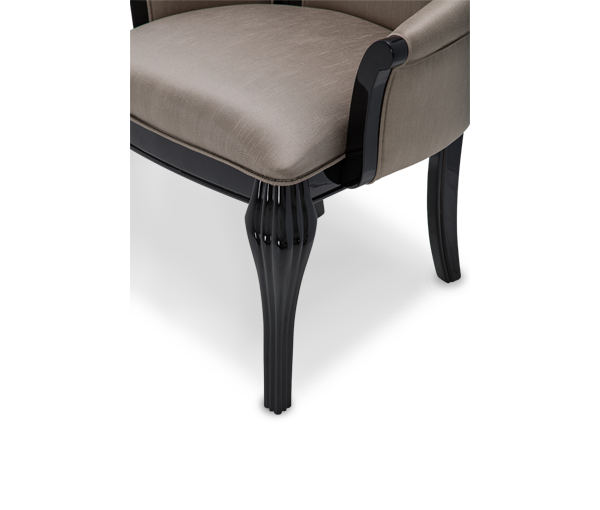 AICO - Michael Amini - Hollywood Swank Arm Chair Black Onyx