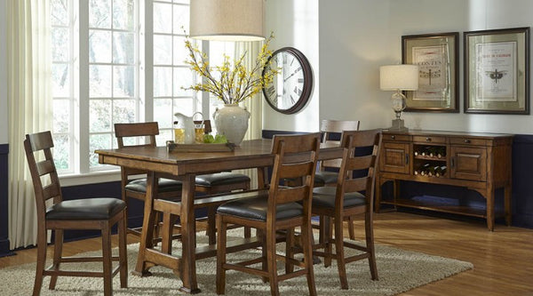 A-America - Ozark Gather Height Trestle Table