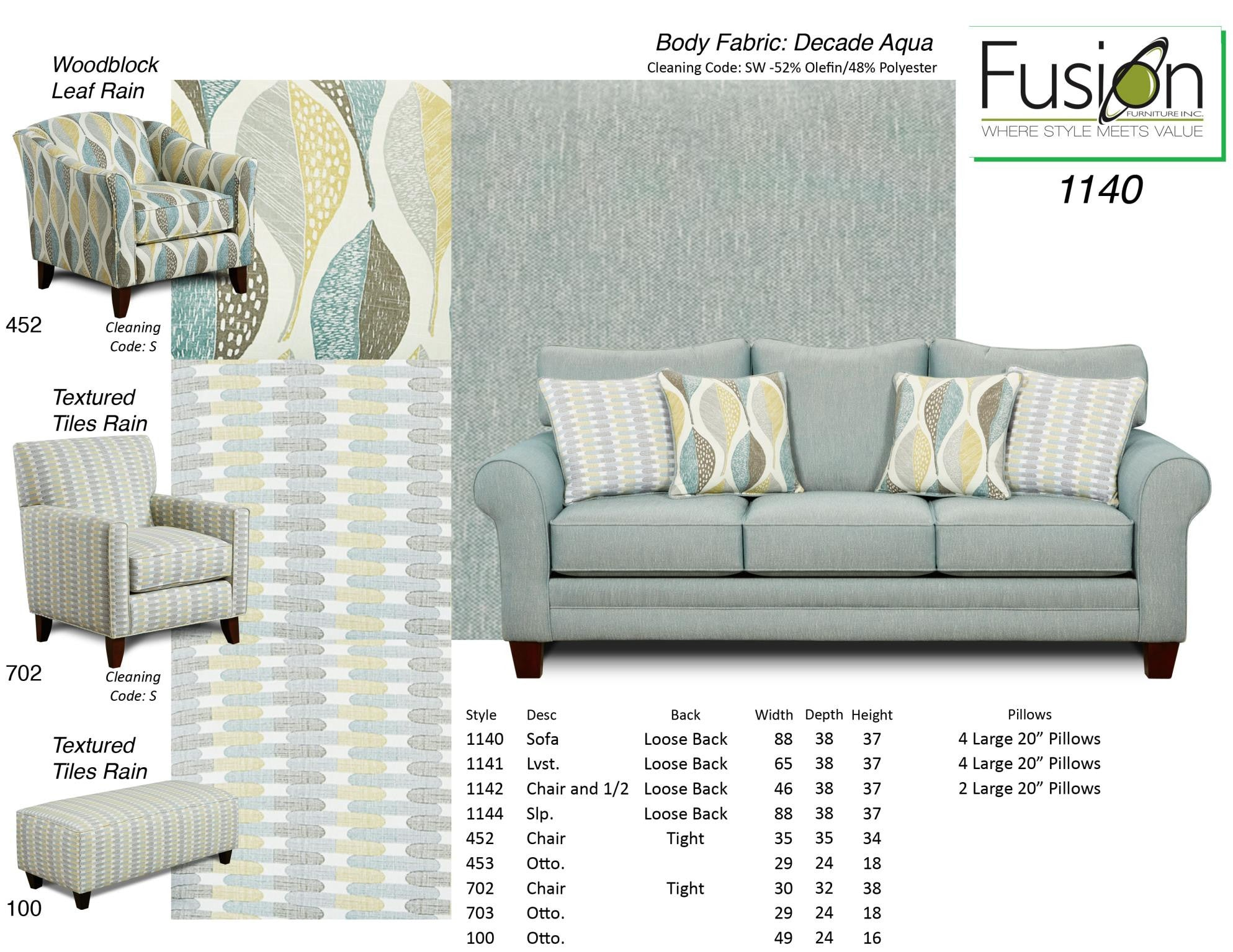 Kagan s Home Fusion 3110 Out West Sofa