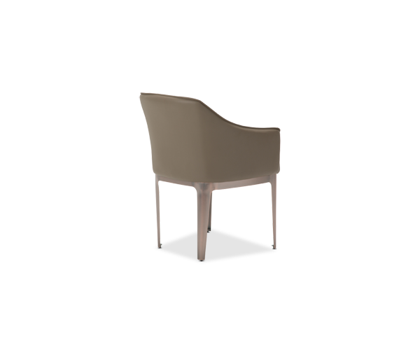 AICO - Michael Amini - Trance Parallel Upholstered Dining Chair w/Sloped Arms