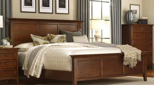 A-America - Westlake Cherry Brown E. King Panel Bed