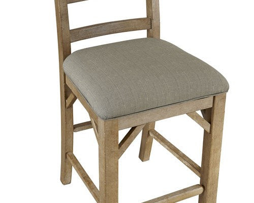 A-America - West Valley Blue Stone Ladder Back Side Stool