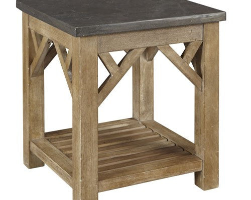 A-America - West Valley End Table with Shelf
